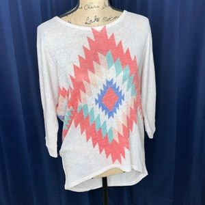 Charming Charlie Tribal Sweater Size Small